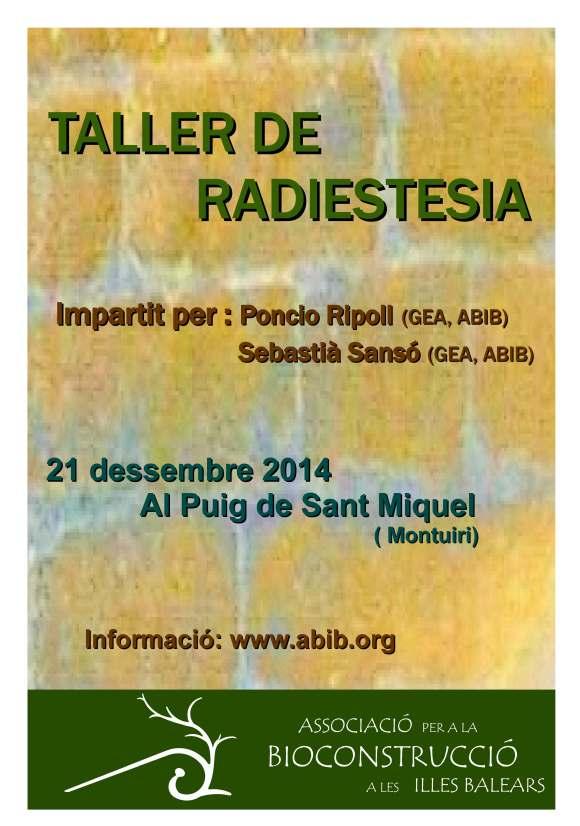 TALLER RADIESTESIS ABIB